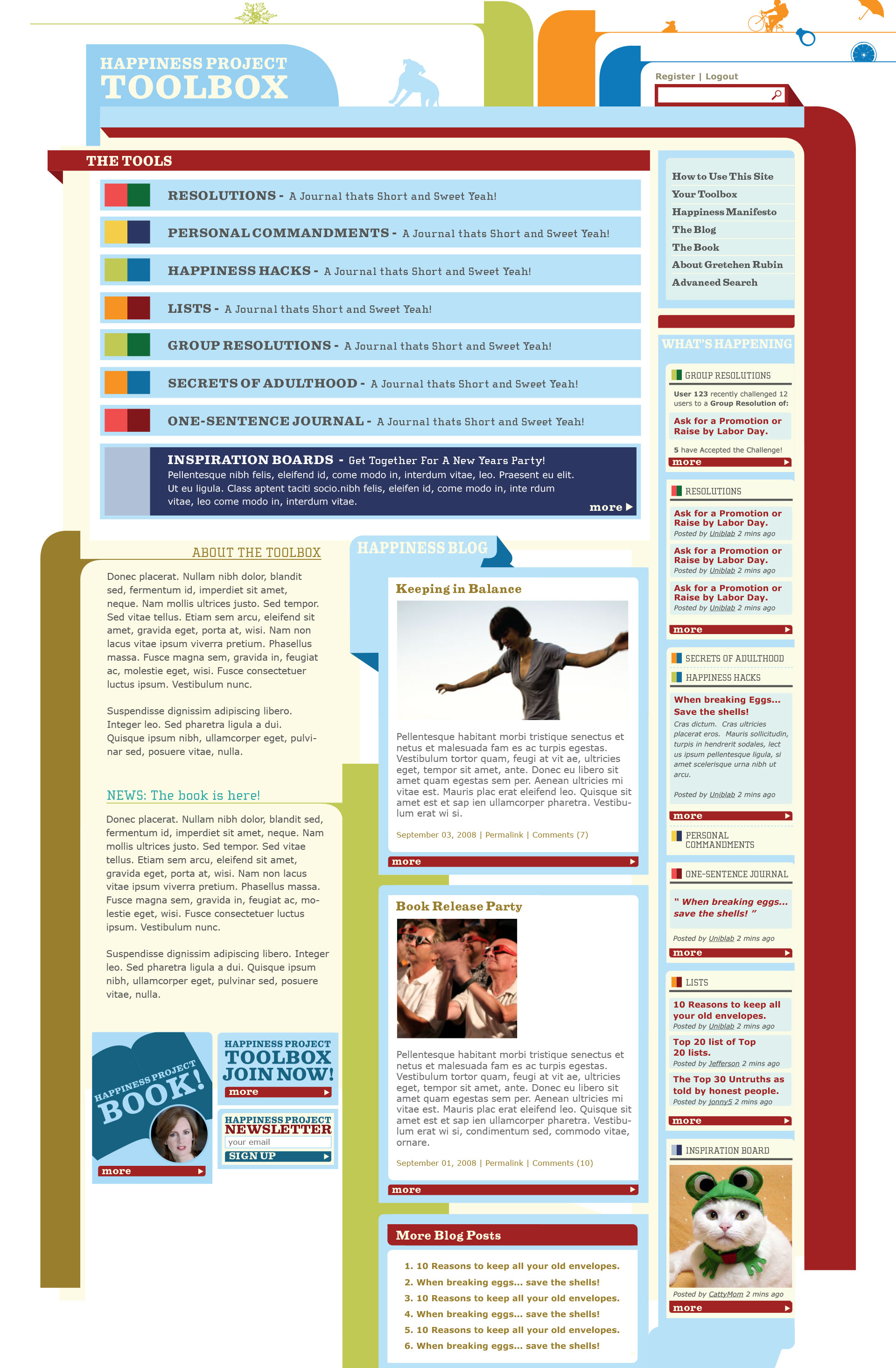Gretchen Rubin Happiness Project Toolbox